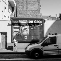 "100 Girls (see more at Series ""Billboards-Advertising"")"